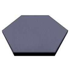 Плитка Экогума Eco Form травмобезопасная резиновая шестиугольная 470 х 470 мм