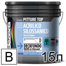 Грунтовка силоксановая пигментированная Colori Decora Deck Fondo Medio al Silossani база B (белая)