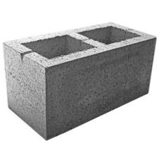 Блок бетонный стеновой сквозной, серый