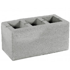 Блок бетонный стеновой с дном, серый