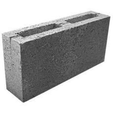 Блок бетонный перегородочный, серый